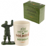 Toy Soldier with Binoculars Shaped Handle Mug